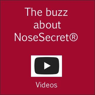 Bulbous nose tip fixed with NoseSecret - Before and after
