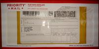 USPS Priority Mail International envelope